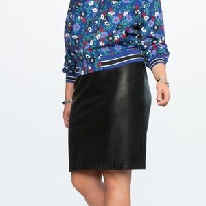 Eloquii Faux Leather Pencil Skirt Black Size 20